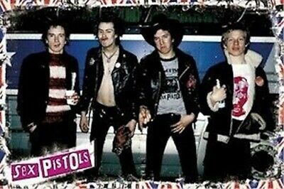 THE SEX PISTOLS ~ BUS PUNKS GROUP 24x36 POSTER Music Sid Vicious Johnny Rotten