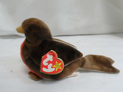 "Ty Beanie Babies: Early The Robin Plush 8"" (Bno15) A"