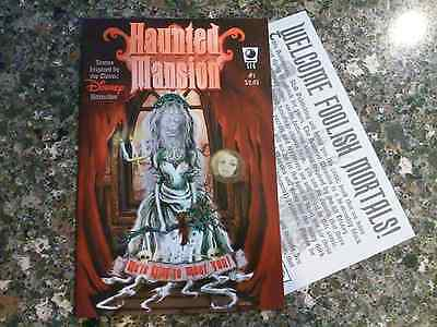2005 Disney Haunted Mansion Comic Book Issue #1, With Promo Card, Mint On Board