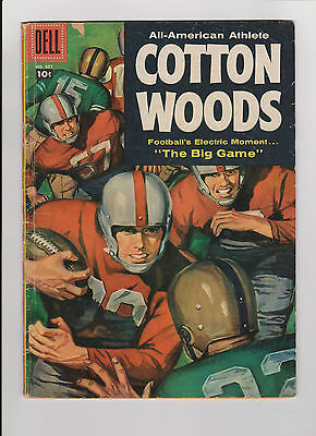 "1957 Dell Comic Football Book ""All American Athlete Cotton Woods"" 4 Color #837"