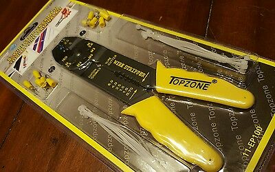 "wire stripper 8 "" crimping tool & Wire terminal 31 pc kit (topzone)"