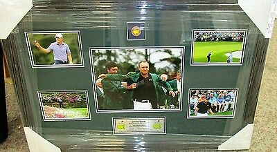 Jordan Speith Hand Signed Golf Photo Set Framed With Plaque + Photo Proof C.o.a