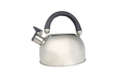 2.5L Stainless Steel Whistling Kettle Gas Electric Hob Litre Camping Stove Large