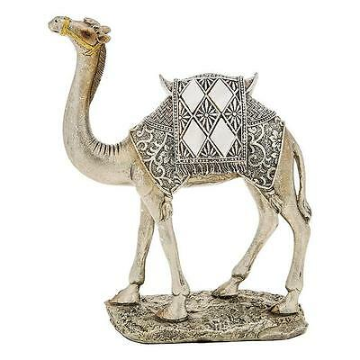 New Mirror and Silver Camel Standing Statue Ornament Figurine 21cm 65028