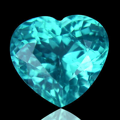 2.29 Ct Shimmering Rare Best Blueish Green Heart Cut Natural Apatite Gemstone