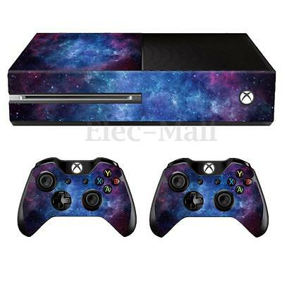 Nebula Skin Decal Sticker Cover Protector Wrap For Xbox One Console+2 Controller