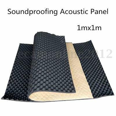 Fireproofing Soundproofing Acoustic Studio Foam Absorption Panel Decor Wall 1x1m