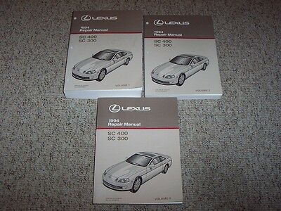 1994 Lexus SC300 SC400 SC 300 400 Shop Service Repair Manual Book Set BRAND NEW!