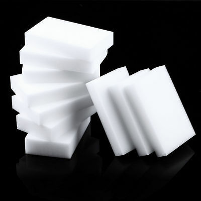 10 Pcs Magic Sponge Eraser Clean Cleaning Multi-functional Foam Cleaner White DS
