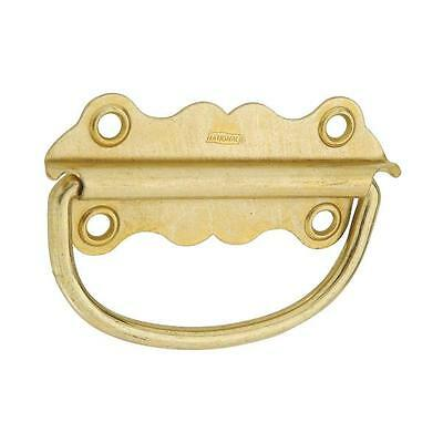 "5 Pk Steel Brass Plated 3.5"" W X 1 3/8"" H Drawer Cabinet Handle 2/Pk N213421"