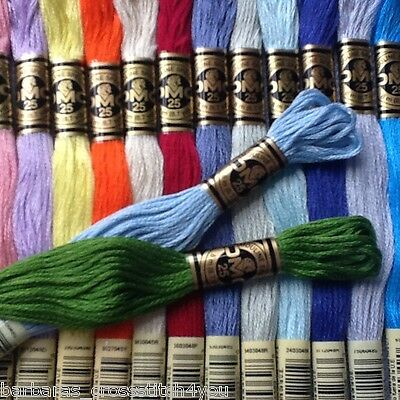 11 - 30 Dmc Cross Stitch Threads/skeins - Pick Number Colours Free Pp