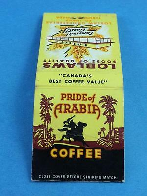 Pride Of Arabia Coffee Loblaw's Grocerterias  Vintage Matchbook Collector