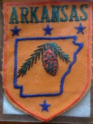 Vintage ARKANSAS Souvenir Travel Patch - New Old Stock