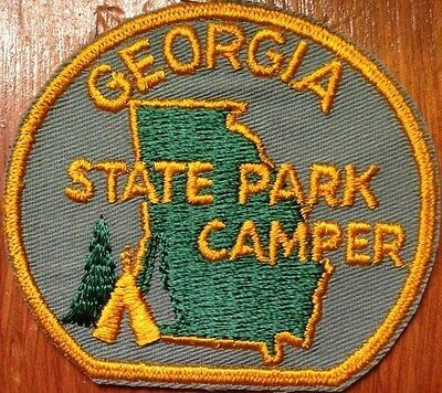GEORGIA STATE PARK CAMPER Patch - VETERANS STATE PARK - RED TOP MOUNTAIN
