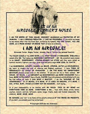 Rules In An Airedale Terrier's House