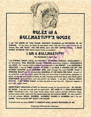 Rules In A Bullmastiff's House