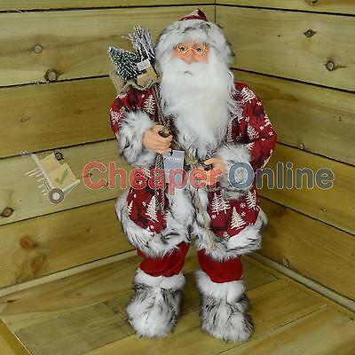 60cm Standing Indoor Country Luxury Santa Claus / Father Christmas Decoration