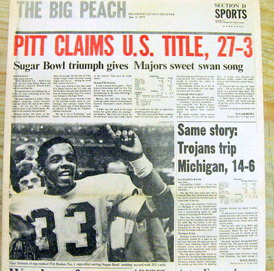 Best 1977 newspaper UNIVERSITY of PITTSBURGH wins1976 NCAA football CHAMPIONSHIP
