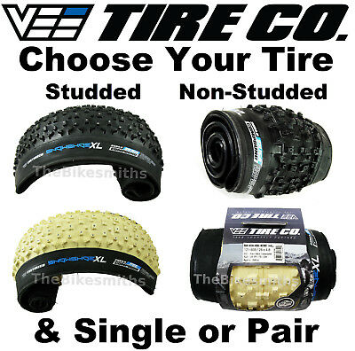 "Vee Rubber Snowshoe XL 4.8"" STUDDED 26"" Folding Fat Bike Silca Tire Tubeless PSC"