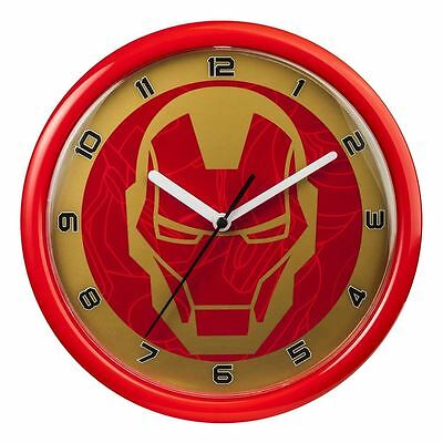 Official Marvel Avengers Iron Man Bedroom Wall Clock - Boxed Gift New