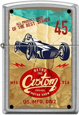 Zippo Retro 1945, Custom Chicago Motor Show, Poster Street Chrome New Rare