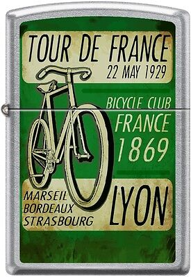 Zippo Tour De France 22 May Bicycle Club Lyon 1869 Retro Poster Street Chrome