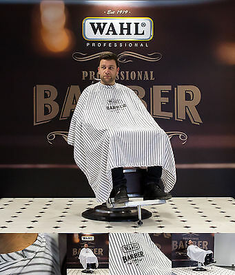 WAHL PRO BARBER CAPE CAPE WITH PINSTRIPES WATERPROOF 147x152