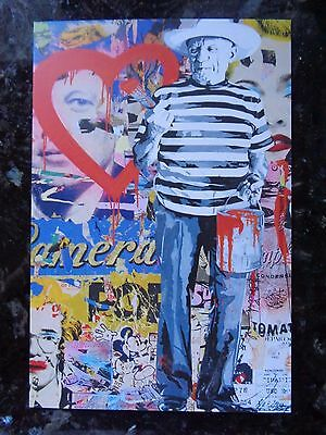 Mr Brainwash Jackson Pollock promo abstract postcard pablo picasso andy warhol