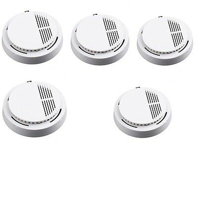 5x Home Security Standalone Smoke Detector Fire Alarm Photoelectric Sensor DS