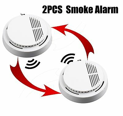 Photoelectric Smoke Alarm Fire Detector Sensor System Home Security White KB