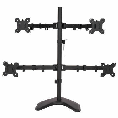 4 LCD Tilt Monitor Mount Desk TV Bracket Stand Adjustable Arms Swiel up to 27""
