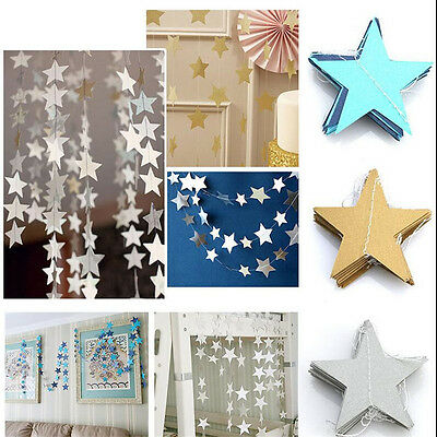 New Star Paper Garland Banner Baby Shower Bunting Drop Wedding Party Decor 4m KD