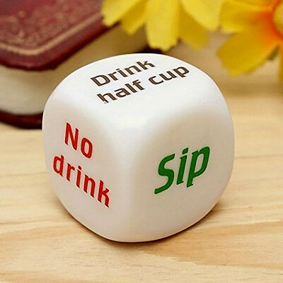 1Pc Funny Party Drinking Dice Decider Game Pub Toy  Funny Adult Stag Hen Gift