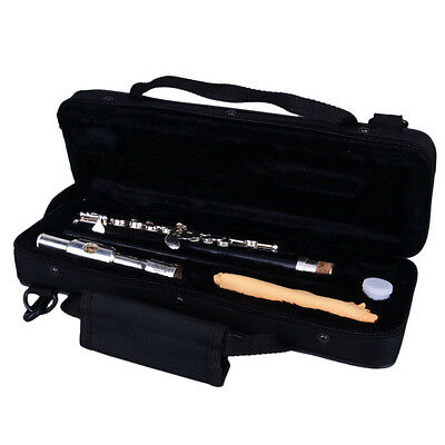 New Woodwind Beginner Silver Cupronickel C Tone Piccolo with Case + Cloth