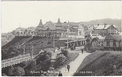 Nz Kelburn Tram Terminus Wellington Fgr5938 Real Photo Postcard
