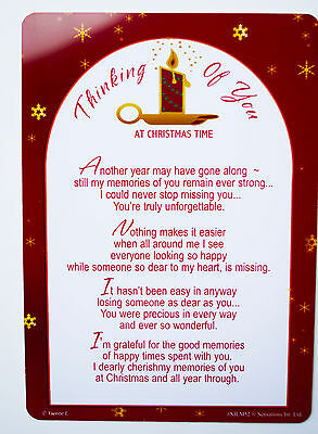 Thinking Of You At Christmas Time Grave Card Decorations Memorial Remembrance