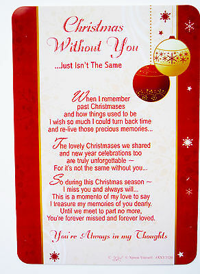 Christmas Without You Grave Card Decorations Memorial Remembrance Missing You