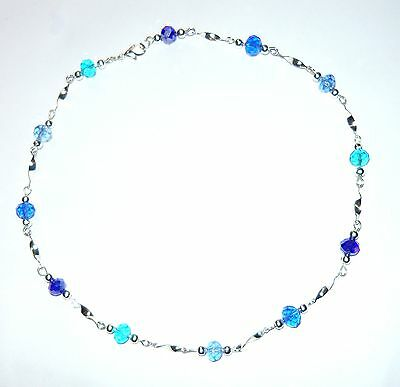 Stunning Sparkly Blues Twist Necklace