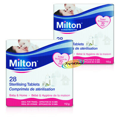 2x Milton 28 Sterilising Tablets Maximum Protection For Baby Items