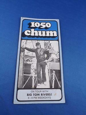 1050 Chum Radio Station Toronto Top 30 Songs July 1973 On Tour Big Tom Rivers