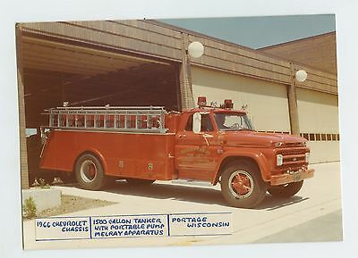 1966 Chevrolet Melray Fire Truck Original Small Photo Portage WI ft1373