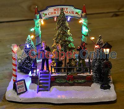 Deluxe Christmas LED Village Scene Light up Town Decoration Ornament Winter Band