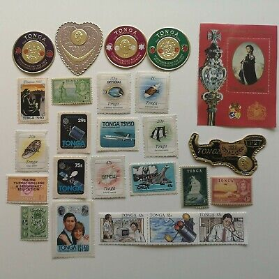 500 Different Tonga Stamp Collection