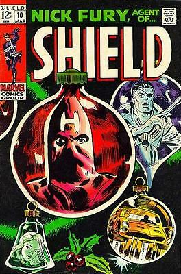 NICK FURY AGENT OF S.H.I.E.L.D. #10 F, Christmas issue, Marvel Comics 1969