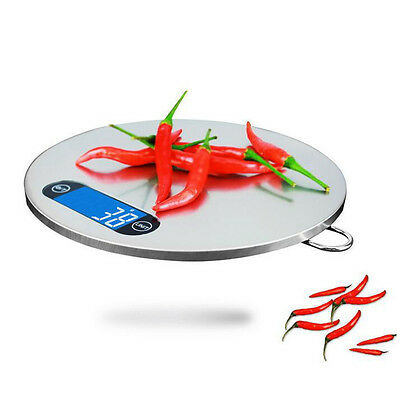 Stainless Steel Kitchen Scales Cooking Measure Tools Electronic Weight LED