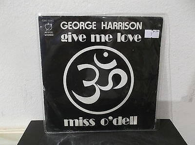 """GEORGE HARRISON(BEATLES) Give me love/Miss O'Dell 7"""" EX-/VG+  ITALY"""