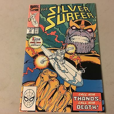 SILVER SURFER #34 Marvel Comics Copper Age Key Issue Near Mint NM Thanos Return