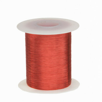 "42 AWG Gauge Enameled Copper Magnet Wire 2oz 6,414' Length 0.0026"" 155C Red"