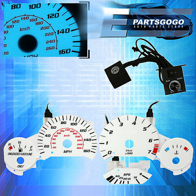 For 92-98 BMW E36 3-Series Speedometer Overlay Indiglo Dash Cluster Upgrade