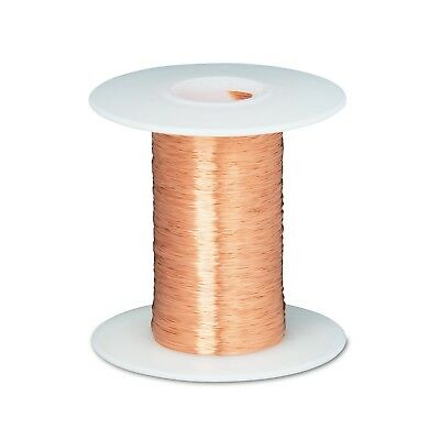 "43 AWG Gauge Enameled Copper Magnet Wire 2oz 8262' Length 0.0024"" 155C Natural"
